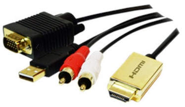 LogiLink HDMI To VGA + Audio Converter Cable 2m