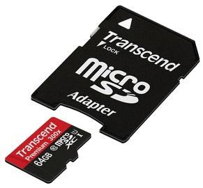 Transcend 64GB Micro SDXC Premium UHS-I Class 10 + Adapter
