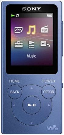 Музыкальный проигрыватель Sony NW-E394, синий, 8 ГБ