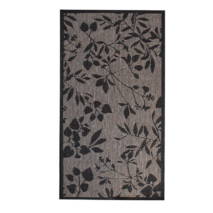 Ковер Home4you Dawn Foam 87494, коричневый/черный, 300 см x 80 см