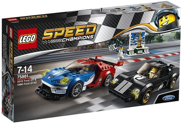 Konstruktorius LEGO Speed Champions 2016 Ford GT & 1966 Ford GT40 75881