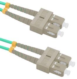 Qoltec Fiber Optic Cable Multimode SC/UPC to SC/UPC 50/125 OM4 2m
