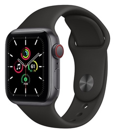 Nutikell Apple Watch SE GPS + Cellular 40mm Sport Band, must/hall