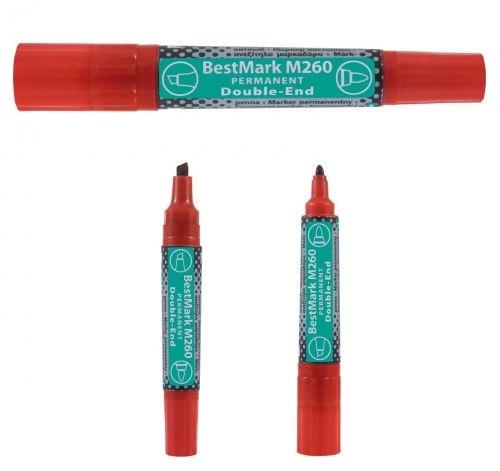 Veekindel marker Stanger BestMark M260 Permanents Double End Marker 8pcs Red