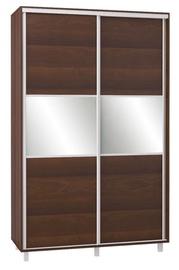 Bodzio SZP150W Sliding Wardrobe w/ Mirror 150x240cm Walnut