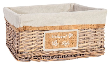Home4you Willi Cork Basket M 42x32x19cm Light Brown