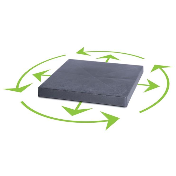 Prosperplast Pot Plast With Wheels D40cm Quadrate