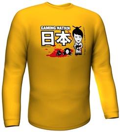 Футболка с длинными рукавами GamersWear Gaming Nation Longsleeve Yellow XXL