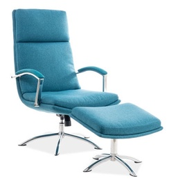 Signal Meble Jefferson Chair With Footrest Turquoise