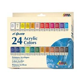 Akriliniai dažai Kreul 28253, 24 spalvos