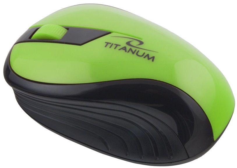 Kompiuterio pelė Esperanza Titanum Rainbow TM114 Black/Green, bevielė, optinė
