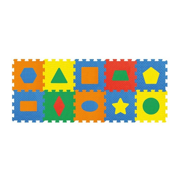 """Bērnu paklājiņš-puzle """"Figūras"""", 10 gab."""