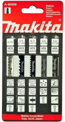 Saagide komplekt Makita A-86898 Jigsaw Blade Set 5pcs