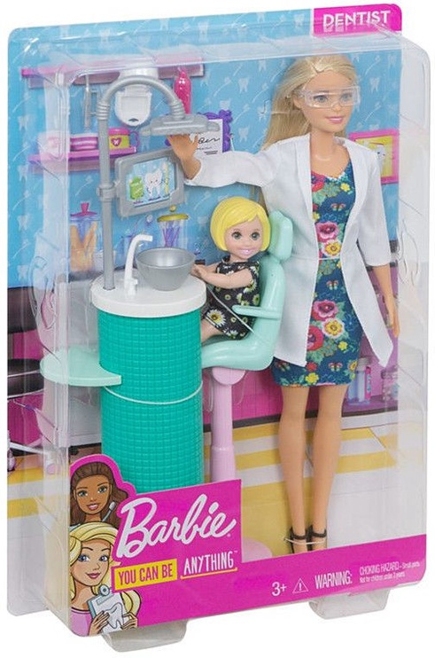 Mattel Barbie Dentist Doll & Playset FXP16