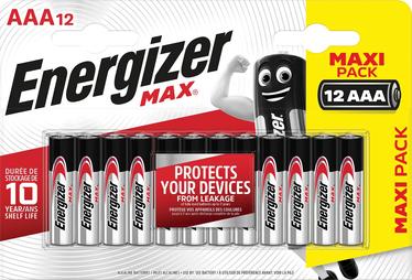 Alkaline baterija Energizer Max AAA B12 1.5V