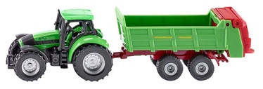 Siku Tractor With A Trailer Green 1673
