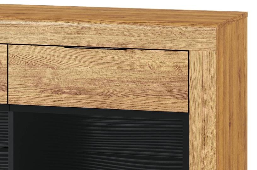 Szynaka Meble Kama 47 Chest Of Drawers Camargue Oak/Black