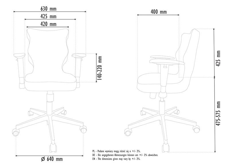 Entelo Perto White Office Chair DC20 Mint
