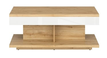 Kohvilaud Black Red White Erla White/Oak, 1100x600x455 mm