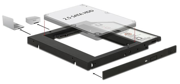 Delock Slim SATA 5.25 Installation Frame 9.5mm