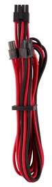 Corsair Premium Individually Sleeved PCIe Cables with Single Connector Type 4 (Gen 4) Red/Black