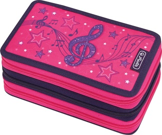 Herlitz Triple Pencil Case 31Pcs Melody Clef
