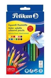 Pelikan Water Soluble Coloured Pencils 12pcs