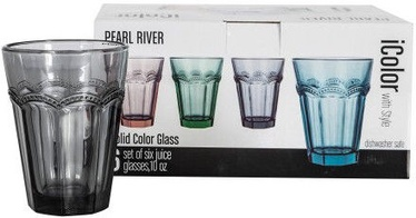 Home4you Tumbler Glass Icolor 300ml Set Of 6 79861 Gray