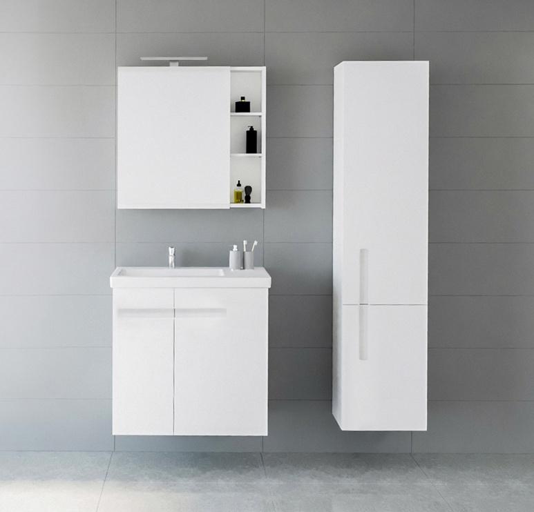 Шкаф для ванной Riva SU37, белый, 31 x 37 см x 165 см