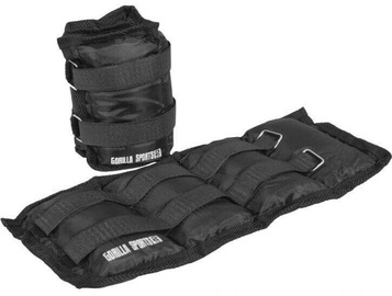 Gorilla Sports Wrist/Ankle Weights 2x2kg Black
