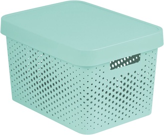 Curver Perforated Infinity Box With A Lid 17L White Blue