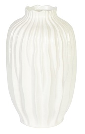 Home4you Wax Paul Vase White
