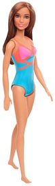 Mattel Barbie Beach Doll Pink And Blue Swimsuit GHW40
