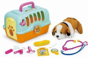 Игрушечный набор ветеринара с собачкой и ее клеткой T20070