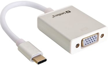 Sandberg Adapter USB / VGA White
