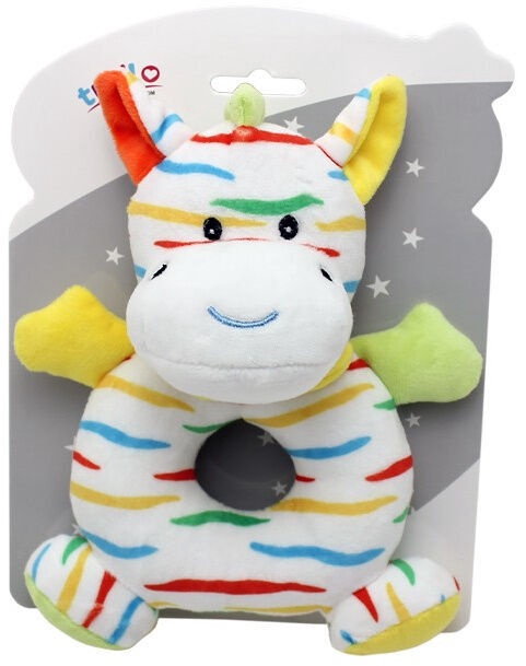 Axiom New Baby Rattle Zebra 17cm