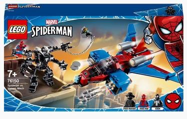Конструктор LEGO Super Heroes Marvel Spider-Man Реактивный самолёт Человека-Паука против Робота Венома 76150, 371 шт.