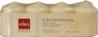 Eika Pillar Candles 8x6cm Champagne 4pcs