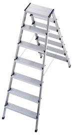 Dvipusės aliuminio sulankstomos kopėtėlės  Hailo L90 8657-001, 2x7 pak