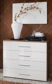ASM Go Chest Of Drawers Plum/White Gloss