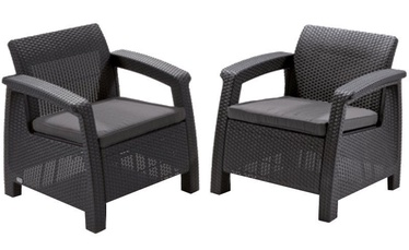 Keter Corfu Duo Garden Chair Set Grey