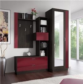Idzczak Meble Zac Hallway Unit Oak/Red