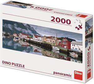 Dino Puzzle Panoramic Fishing Village 2000pcs