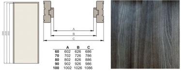 Durų stakta Classen, vertikalioji, kairinė, grafitinio uosio, 2065 x 90 x 30 mm