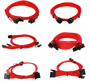 EVGA Power Supply Cable Set Red 100-G2-13RR-B9