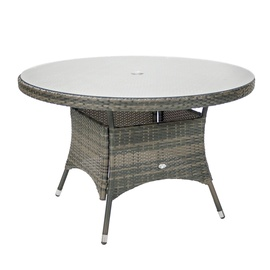 Home4you Geneva Garden Table D120x76cm Grey