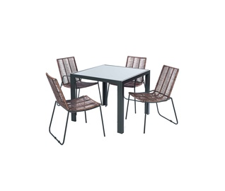 Sodo valgomojo baldų komplektas Domoletti Simple