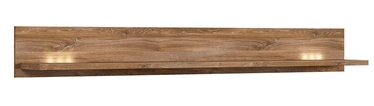 Black Red White Gent Wall Shelf 200cm Stirling Oak