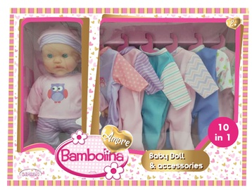 Кукла Bambolina Doll With 6pcs Assorted Dress BD1868