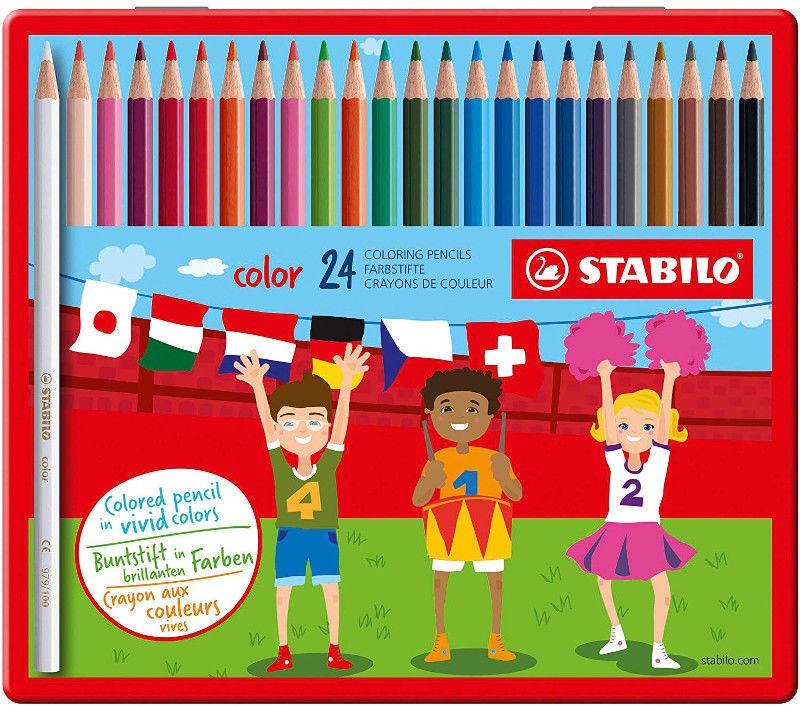 1a Farben.Stabilo Coloring Pencils Metal Case 24pcs